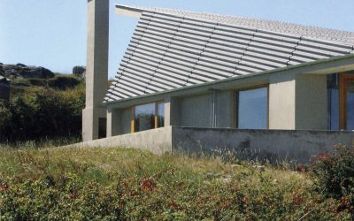 Eternit roofs of corrugated fiber cement