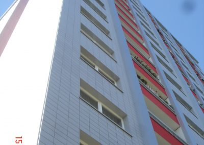Restauration of old block of flats with Creaton